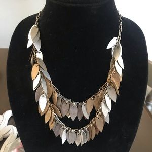 Jewelry - Shades of Metal Leaf Statement Necklace